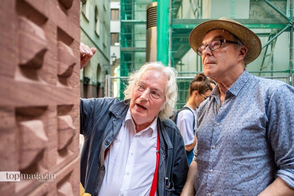 Architekt Jochem Jourdan mit Redakteur Thomas Zorn besichtigen Frankfurts neue Altstadt