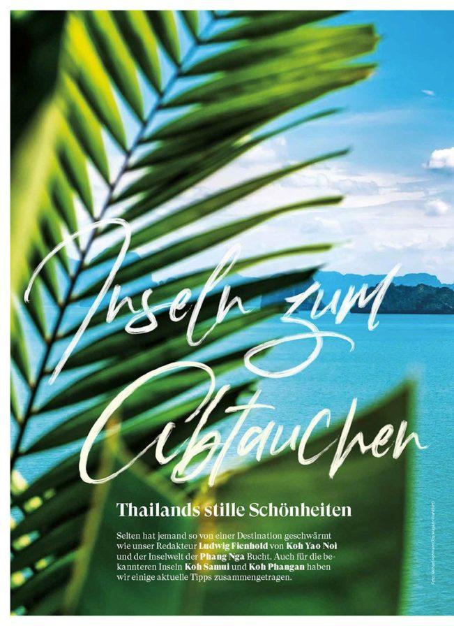 Die schönsten Inseln Thailands, Top Magazin Frankfurt, Ausgabe Herbst 2018