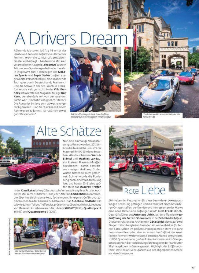 Event News, Top Magazin Frankfurt, Ausgabe Herbst 2018