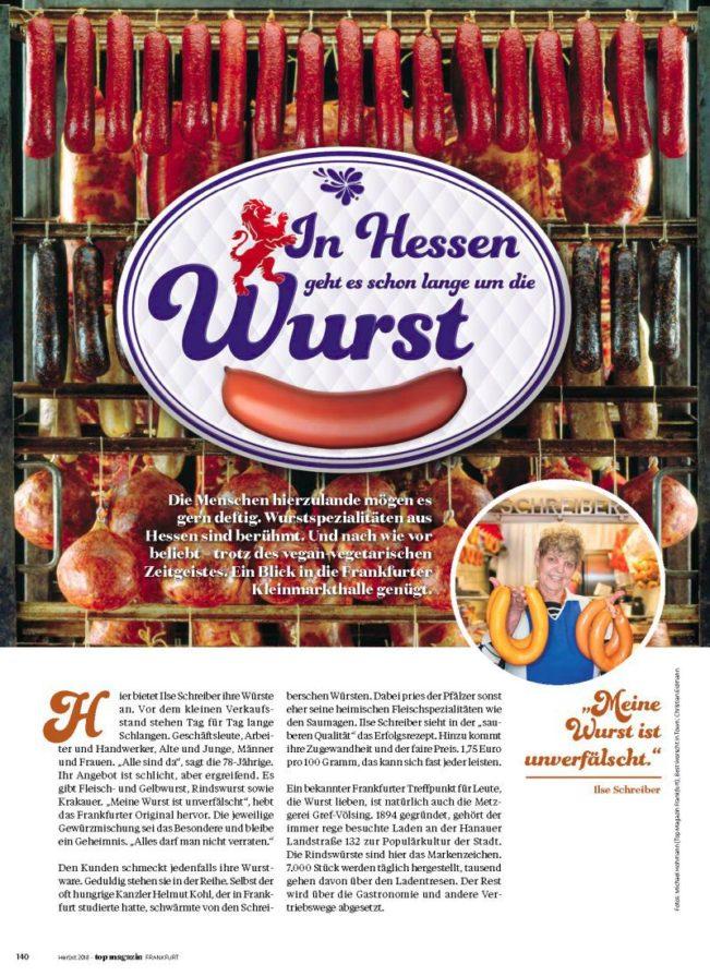 Gourmet, Top Magazin Frankfurt, Ausgabe Herbst 2018