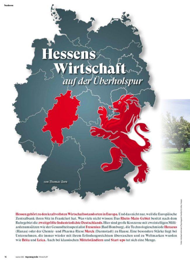 Hessens Wirtschaft, Top Magazin Frankfurt, Ausgabe Herbst 2018