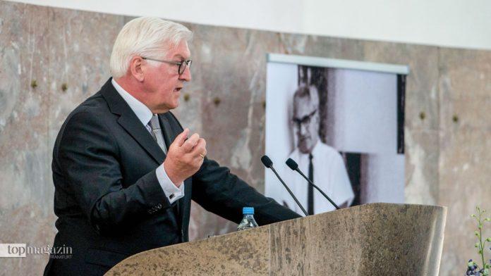 Bundespräsident Frank-Walter Steinmeier bei seiner Rede in der Paulskirche