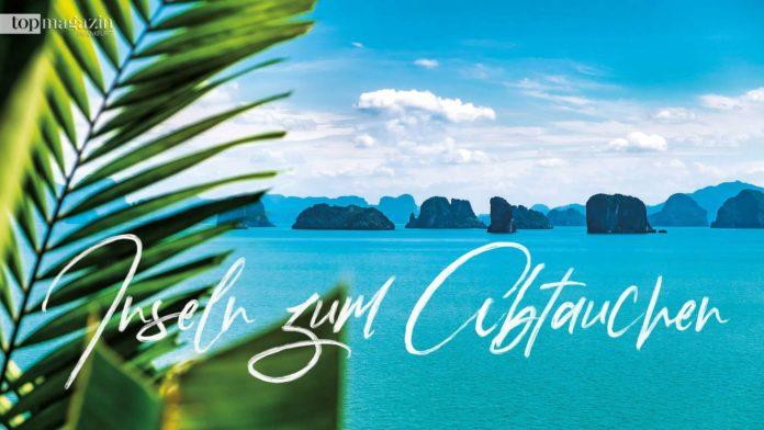 Der Blick von der Villa The View im Six Senses Yao Noi auf die Phang Nga Bucht