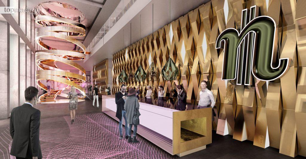 Die Lobby des One soll von Hotel und Büros genutzt werden