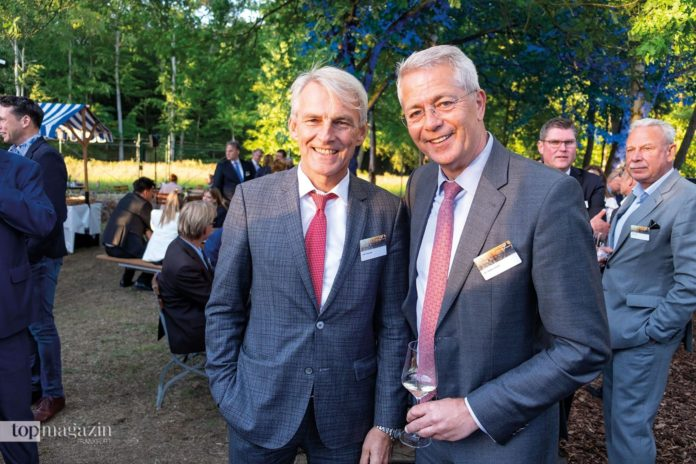 Gastgeber Fraport-Chef Dr. Stefan Schulte mit Condor-Chef Ralf Teckentrup