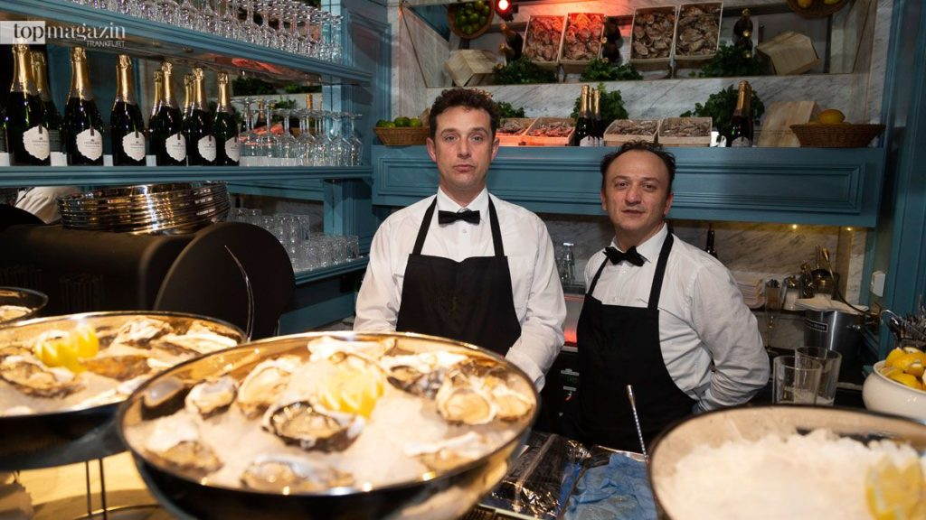 Im Salle Bleu wurden Austern kredenzt