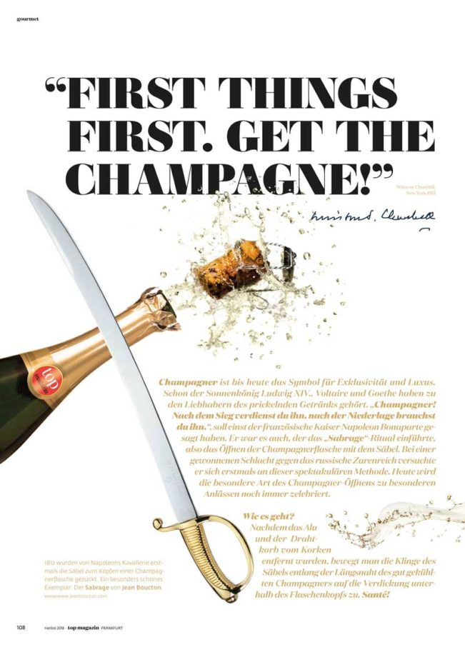 Champagner, Top Magazin Frankfurt, Ausgabe Winter 2018