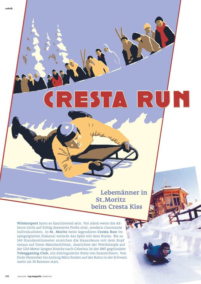 Cresta Run, Top Magazin Frankfurt, Ausgabe Winter 2018