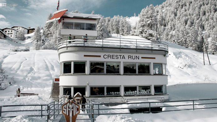 Das Clubhaus des St. Moritz Tobogganing Club