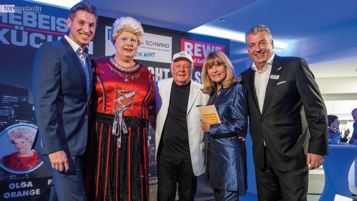 Florian Schwing, Travestiekünstlerin Olga Orange, Graham Bonney, Lena Valaitis und Uwe Schäfer