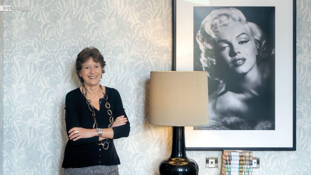 Olga Polizzi in einer der neuen Suiten der Villa Kennedy