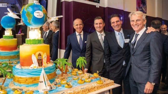 Thomas Cook Deutschland-Chef Christoph Debus, Condor Operations-Geschäftsführer Christian Schmitt, Thomas Cook-CEO Peter Fankhauser und Condor-CEO Ralf Teckentrup