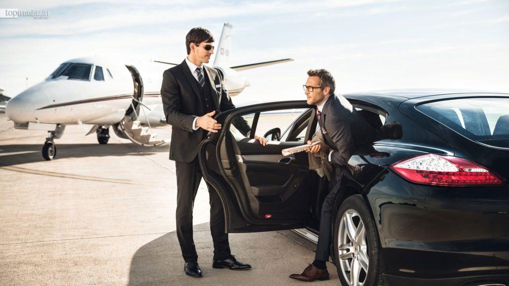Zu den Angeboten der Executive Aviation Services der Fraport AG gehört auch die bequeme Anfahrt mit einer Limousine