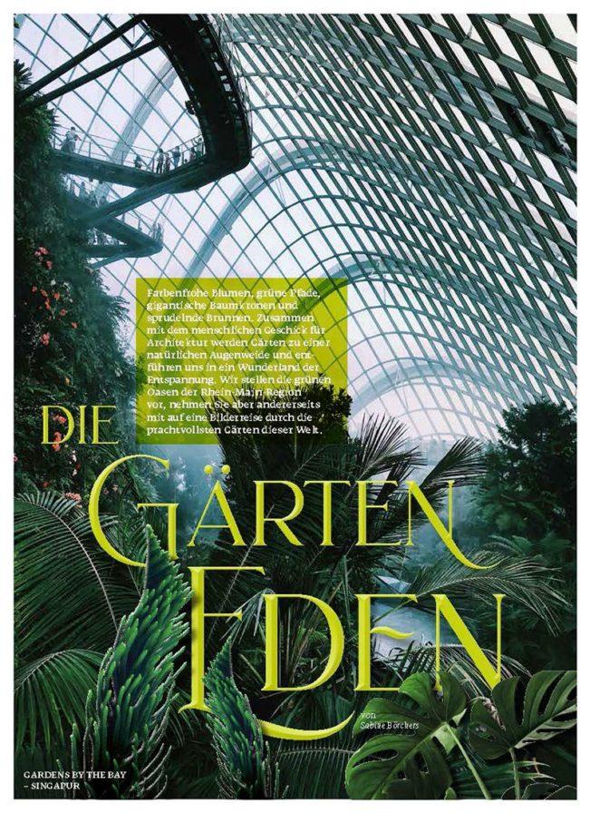 Die Gärten Eden, Top Magazin Frankfurt, Ausgabe Frühjahr 2019