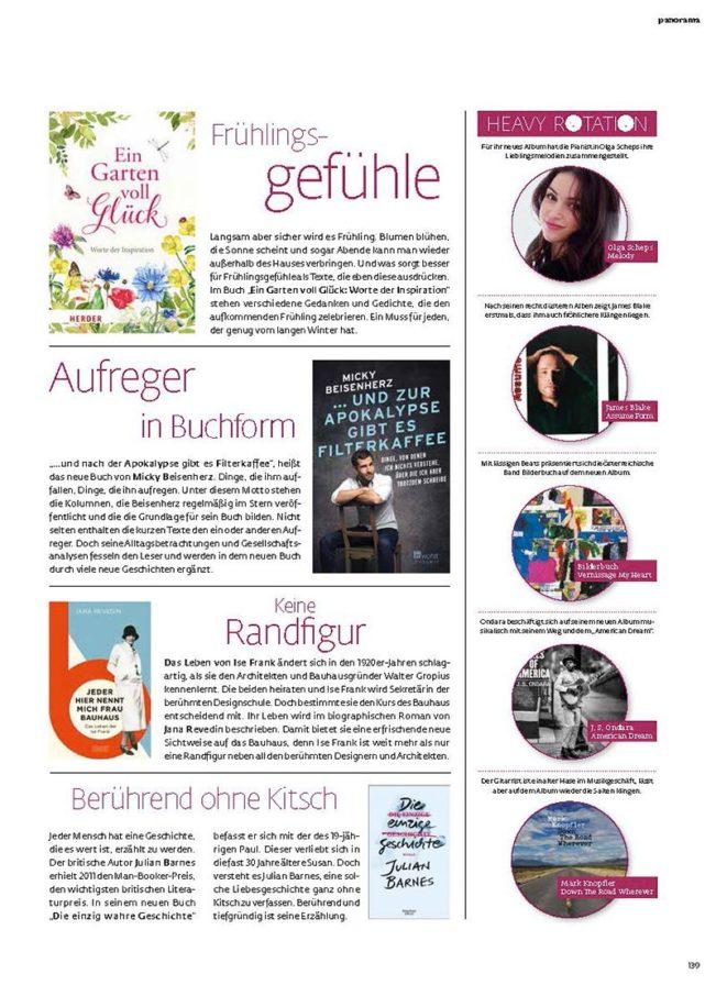 Top Selection, Top Magazin Frankfurt, Ausgabe Frühjahr 2019