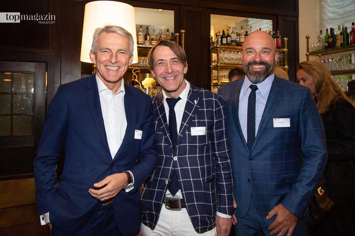 Condor-Chef Ralf Teckentrup mit Andreas Weigand und Oliver Wohlers
