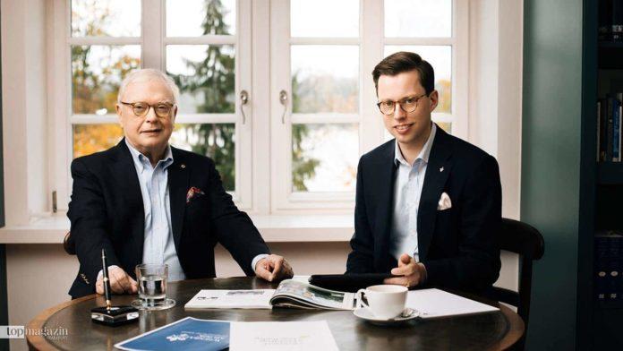 RMF-Intendant Michael Herrmann mit Marsilius Graf von Ingelheim