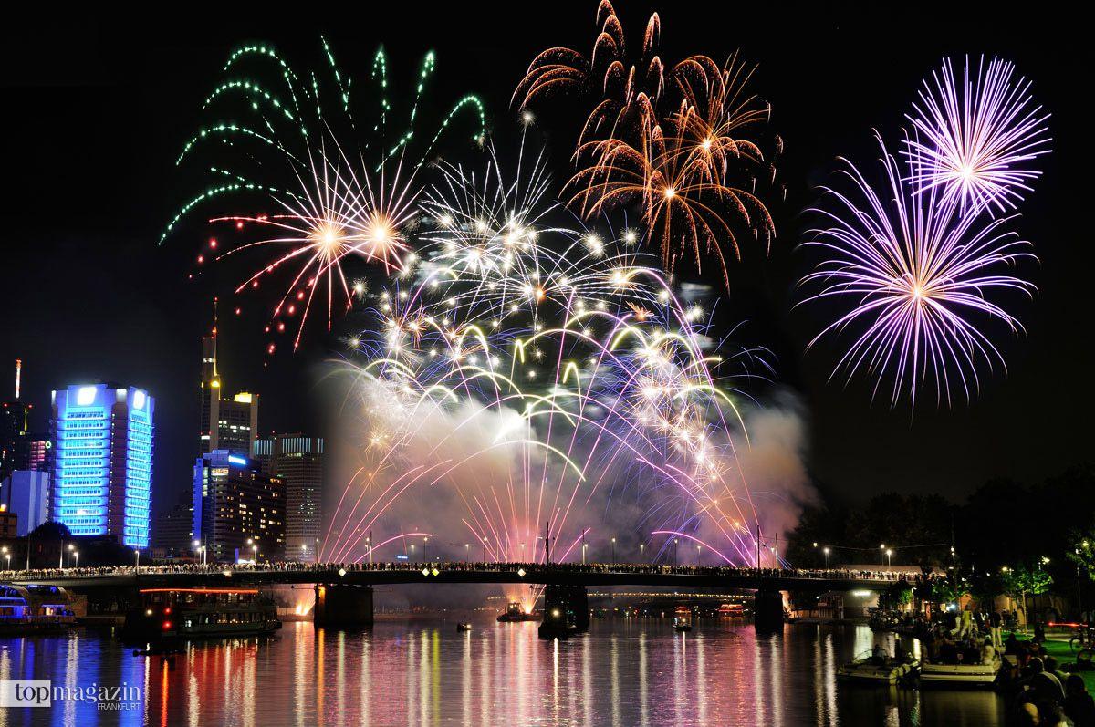 Feuerwerk Museumsuferfest Frankfurt 2019