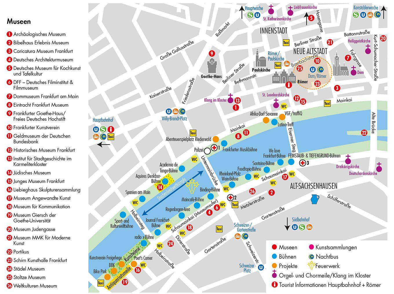 Lageplan Museumsuferfest Frankfurt 2019