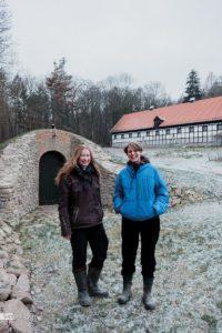 Solvey Abel und Ilka Schön auf den Braumannswiesen