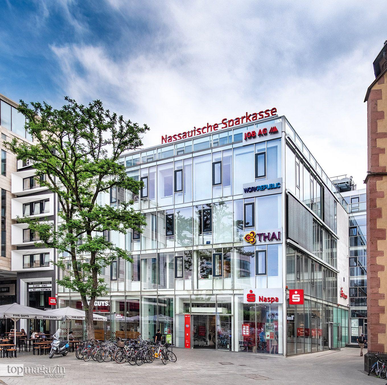 Das Private Banking-Center der Nassauischen Sparkasse in Frankfurt auf der Zeil