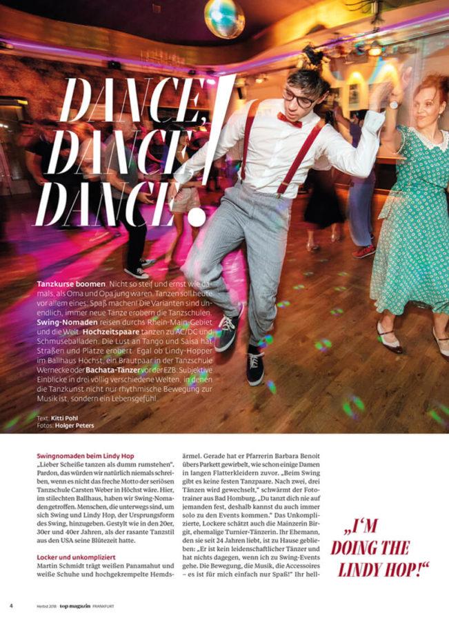 Top Magazin Frankfurt, Ausgabe Herbst 2019, Dance