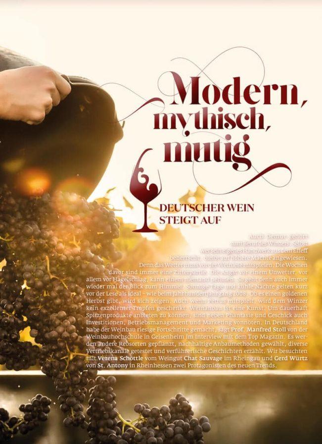 Top Magazin Frankfurt, Ausgabe Herbst 2019 Die Kunst des Weinbaus