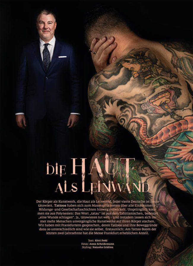 Top Magazin Frankfurt, Ausgabe Herbst 2019, Tattoo Die Haut als Leinwand