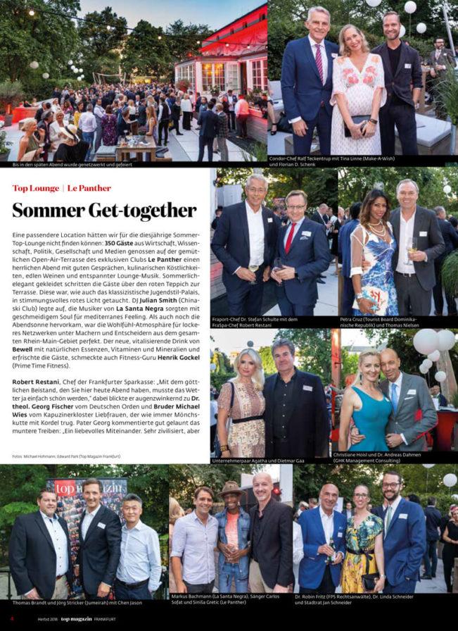 Top Magazin Frankfurt, Ausgabe Herbst 2019, Top Lounge