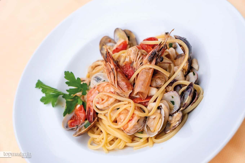 Linguine mit Meeresfrüchten im Settimo Cielo