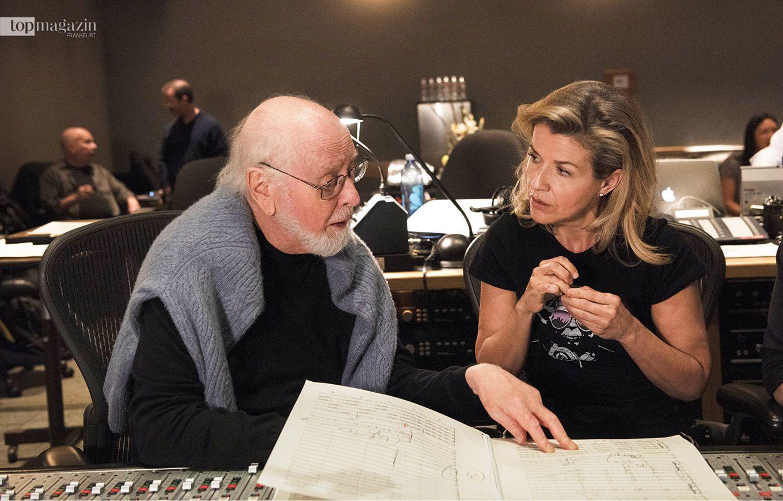 Anne-Sophie Mutter im Studio mit dem fünffachen Oscar-Preisträgers John Williams (Foto Prashant Gupta)