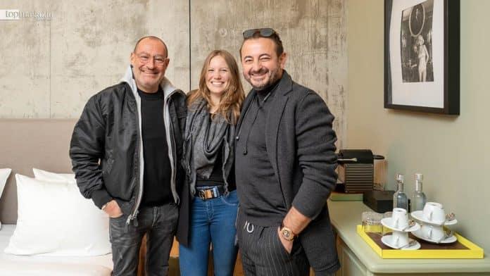 Micky Rosen, Antonia Sprungkund Alex Urseanu im neuen Gekko House