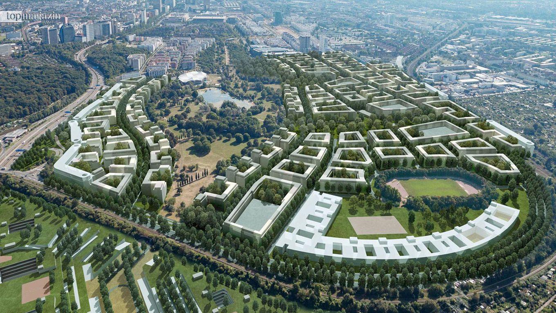 Simulation der Parkstadt Rebstock von Architekt Karl Richter