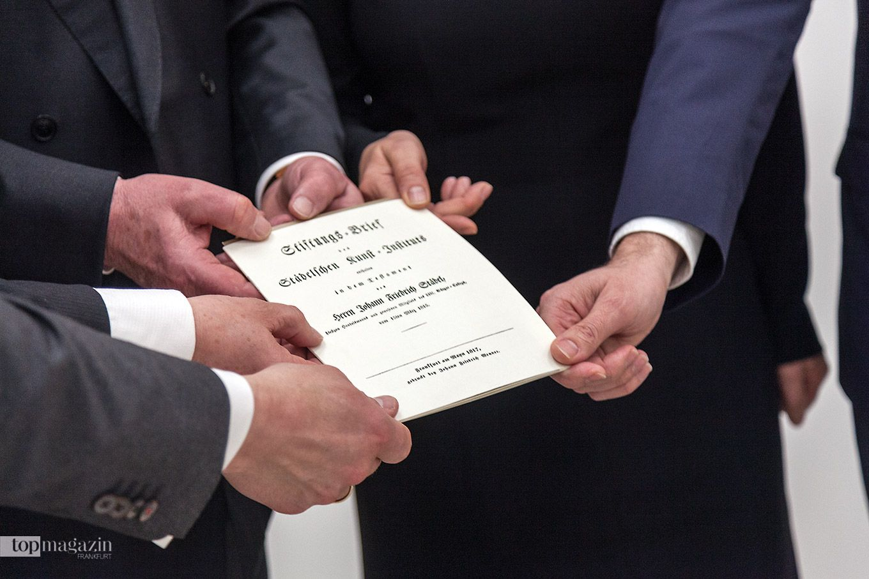 Zum 200-jährigen Jubiläum des Städel Museums wurde der Stiftungsbrief von 1815 präsentiert
