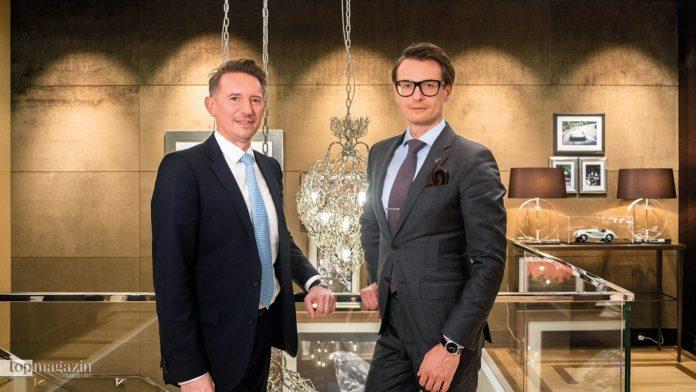 Boutique-Manager Daniel Bockholdt und Alexander Arynenko