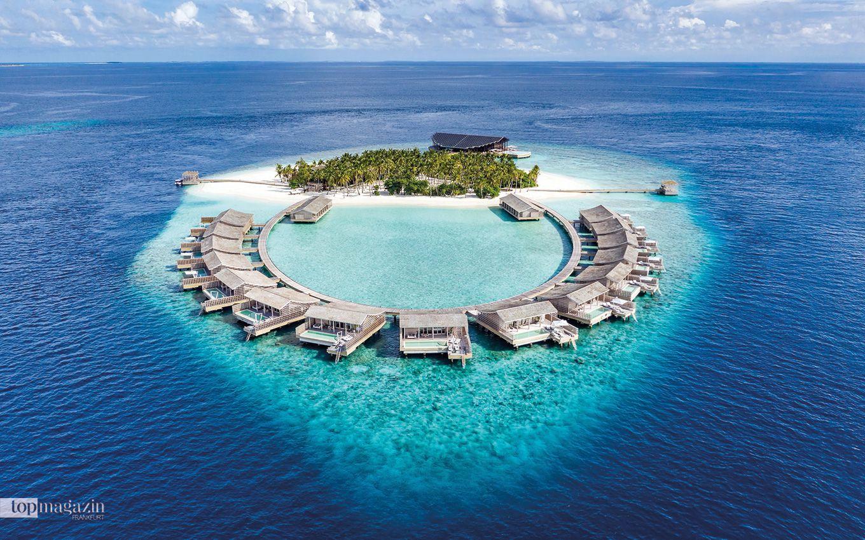 Errichtet aus nachhaltigem Holz und rein mit Sonnenenergie betrieben, verbindet das Resort Kudadoo auf den Malediven Umweltfreundlichkeit mit Luxus