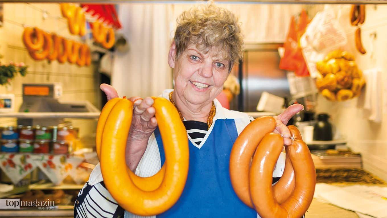 Ilse Schreiber aus der Kleinmarkthalle - Meine Wurst ist unverfälscht