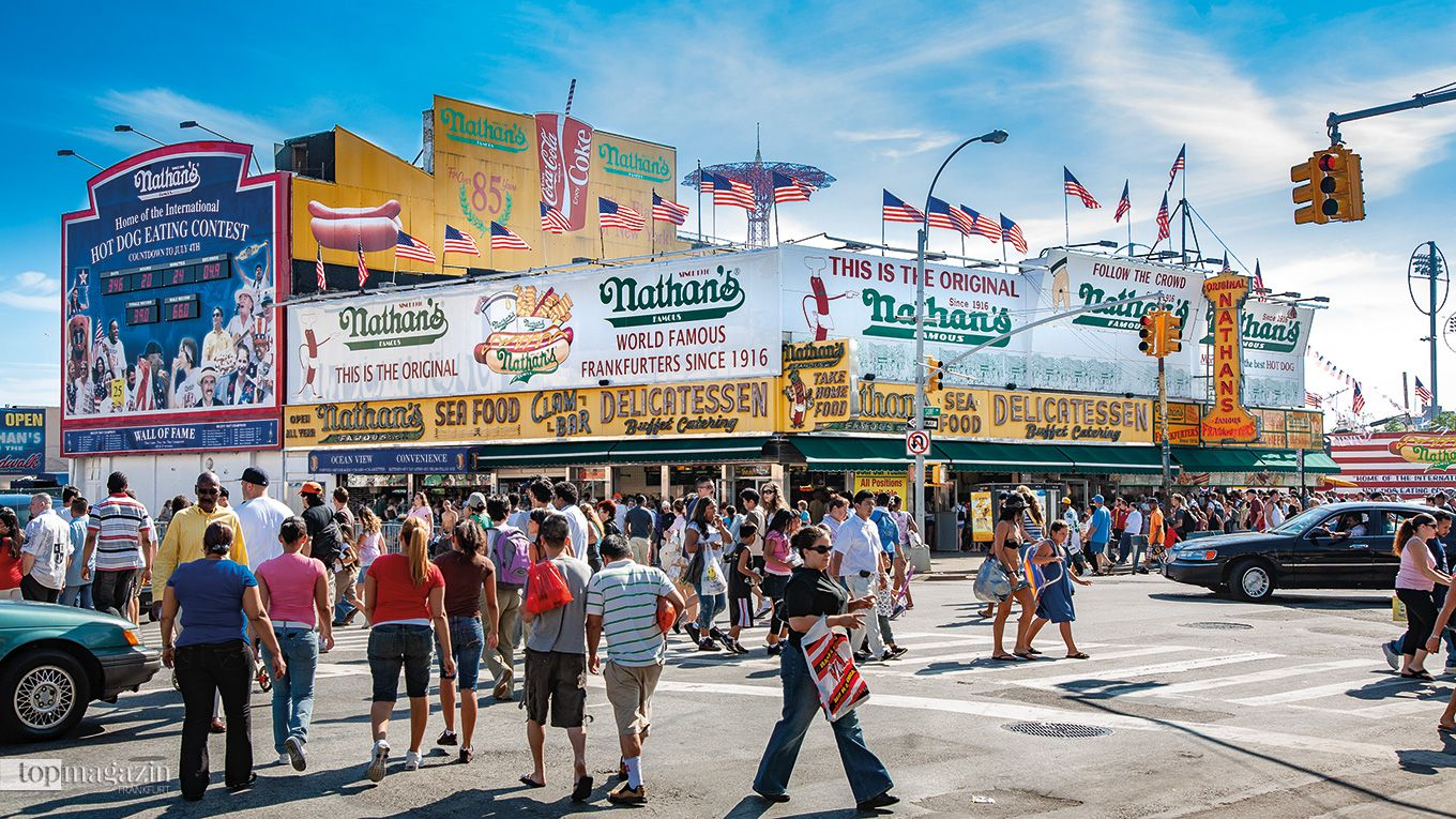 Nathan's Frankfurters in Coney Island