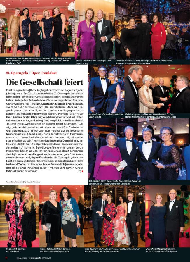 Top Magazin Frankfurt, Ausgabe Winter 2019 - 21. Operngala