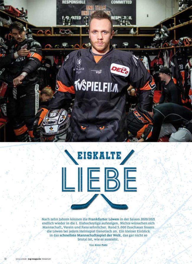 Top Magazin Frankfurt, Ausgabe Winter 2019 - Eishockey Eiskalte Liebe