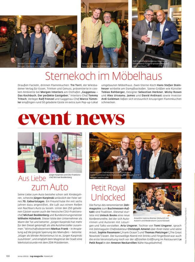 Top Magazin Frankfurt, Ausgabe Winter 2019 - Event News