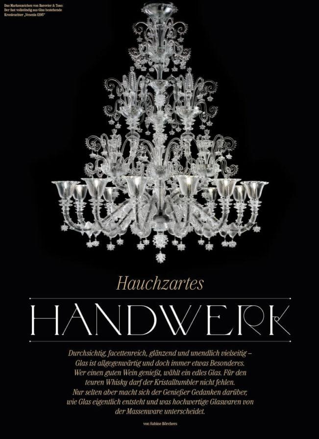 Top Magazin Frankfurt, Ausgabe Winter 2019 - Glas, Hauchzartes Handwerk