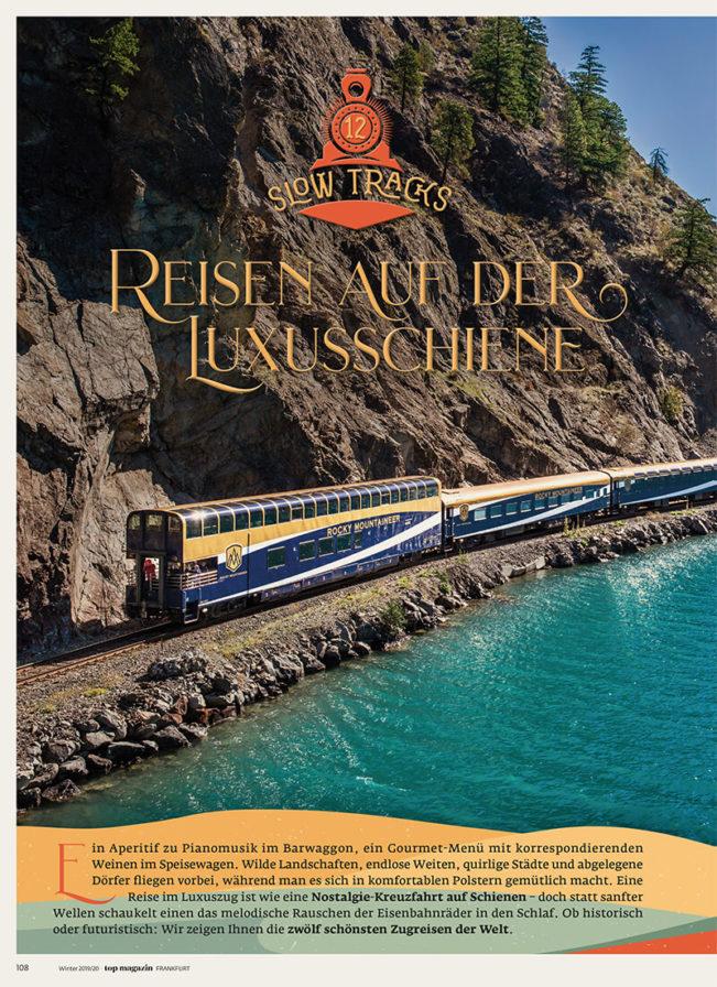 Top Magazin Frankfurt, Ausgabe Winter 2019 - Luxuszüge der Welt