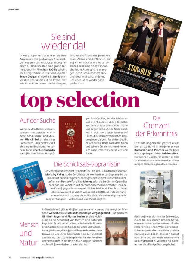 Top Magazin Frankfurt, Ausgabe Winter 2019 - Top Selection