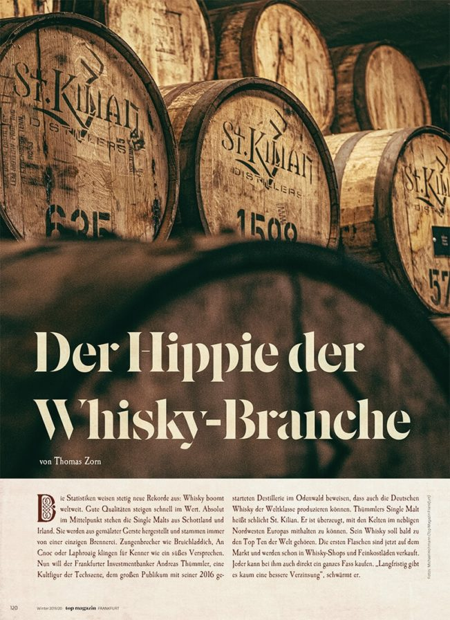 Top Magazin Frankfurt, Ausgabe Winter 2019 - Whisky made in Germany