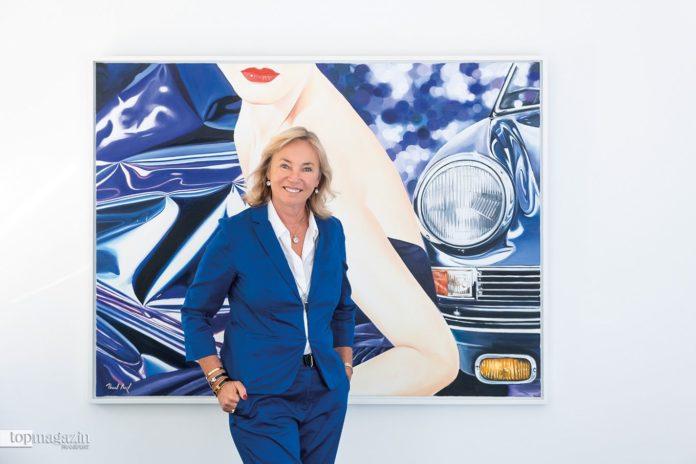 """Barbara von Stechow vor Heiner Meyers """"Violette"""" (2015)"""