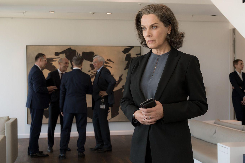 Desiree Nosbusch als Christelle Leblanc in der Serie Bad Banks (Foto ZDF, Christian Luedeke)
