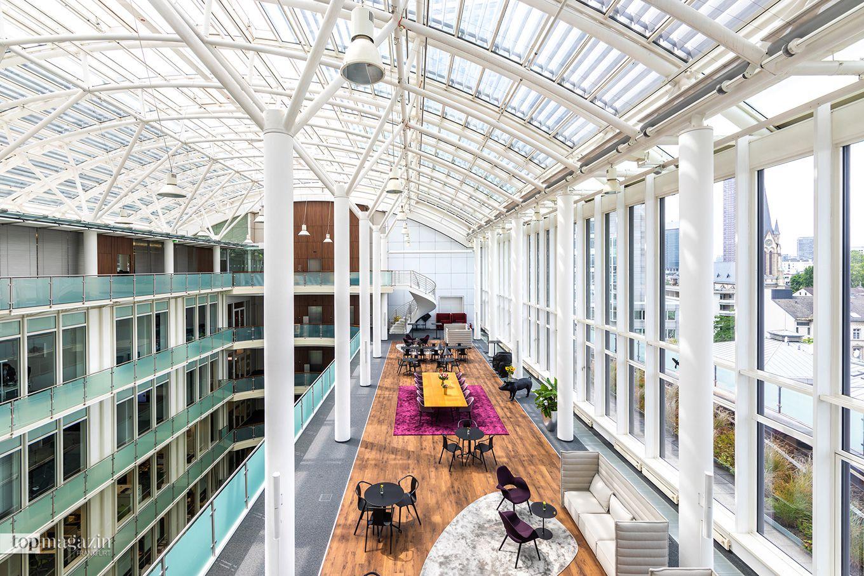 """Die Lounge im 6. Stock des """"ecos office center"""" in der Mainzer Landstraße 50"""