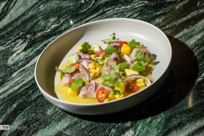 Tulum Ceviche mit Dorade im neuen Roomers Frankfurt Restaurant