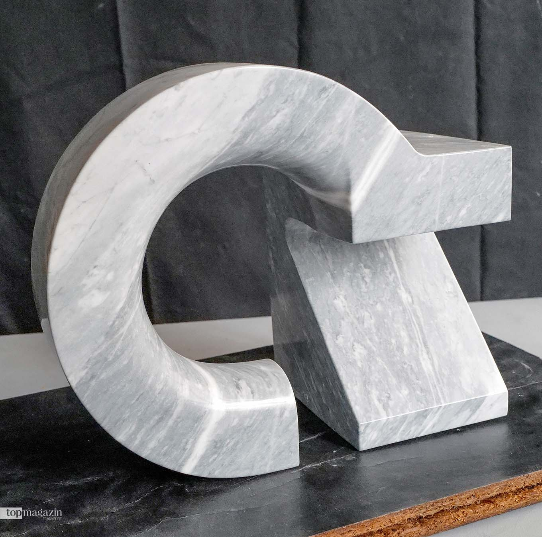 Marmor-Skulptur von Carlo Manini, ohne Titel